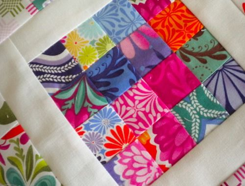 Colorful Scrap Quilt Block