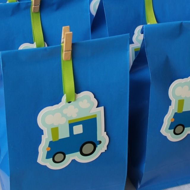 Train Paper Party Bags