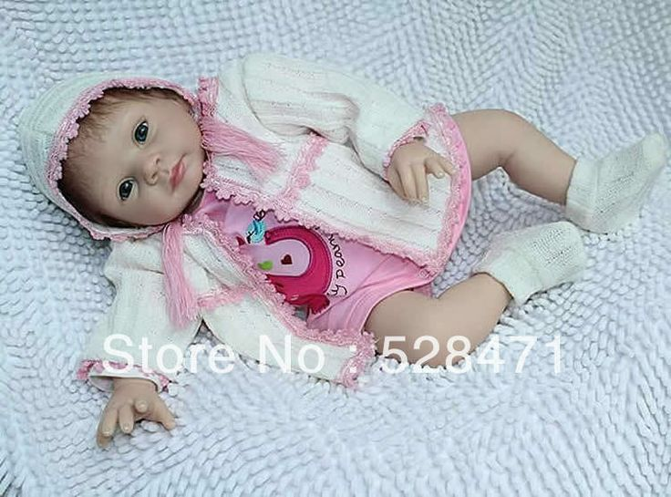 Reborn Baby Doll Real Lifelike Dolls for Children Silicone vinyl soft dolls 22 inch newborn baby toys $111.00