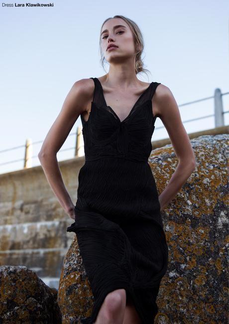 LARA KLAWIKOWSKI dresses featured in Solstice Magazine