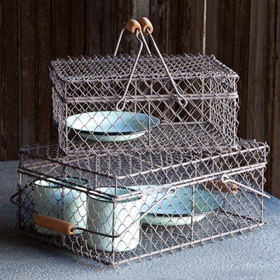 Our Wire Baskets are Farmhouse Decor that are a true country classic! Use this Wire Egg Basket to store fresh eggs! For more visit, Decor Steals