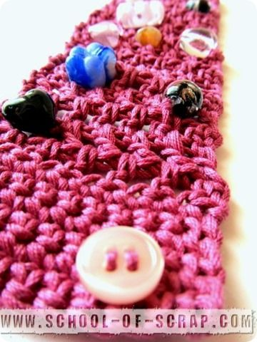 Crochet: PINK il braccialetto a rete alternata rosa antico
