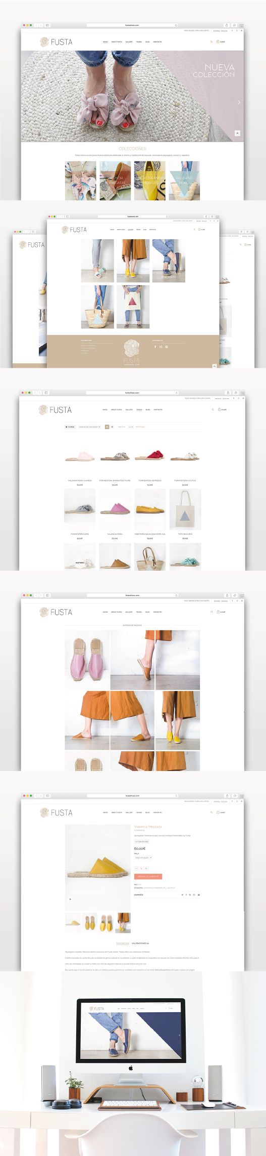 Diseño Tienda Online realizada para Fusta shoes, adaptada con sistema responsive para todos los dispositivos móviles #diseñografico #diseñoweb #creacionweb #tiendaonline