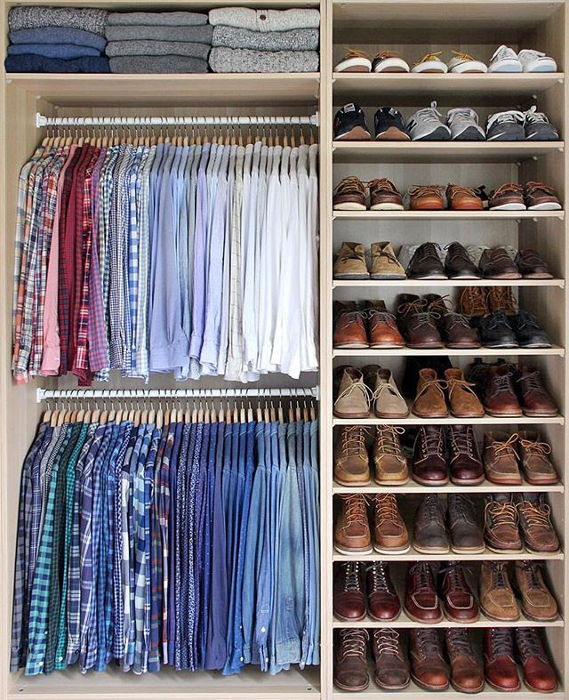 As the weather shifts, so should your closet and wardrobe selection. @thepacman82 demonstrates his closet organization skills.