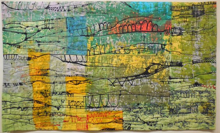 Winner of Surface Design Award at Quilts=Art=Quilts 2014