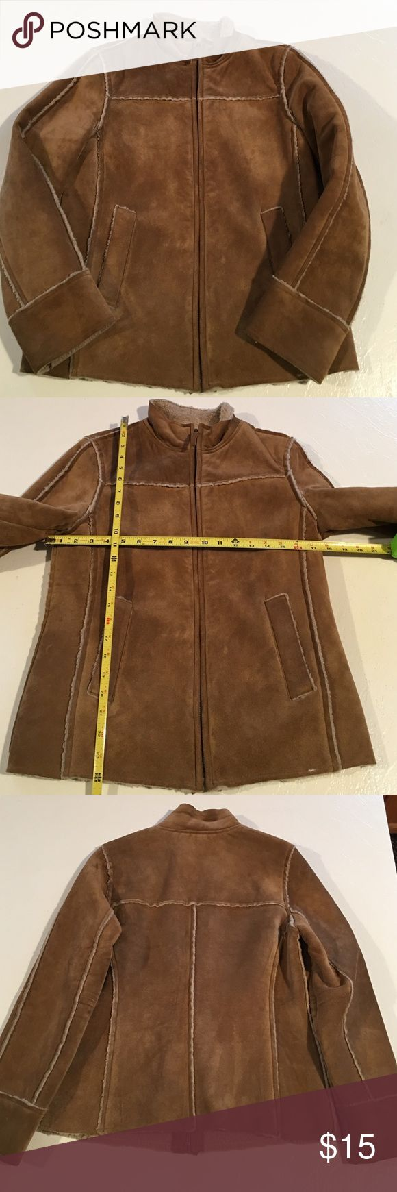 Women's GAP Leather Brown Jacket, Small You will be purchasing a Women's GAP Brown Leather Jacket, Size Small. Please see photos for measurements to determine fit. It is used. If you have any further questions, please do not hesitate to ask. Thanks for Looking! MP GAP Jackets & Coats