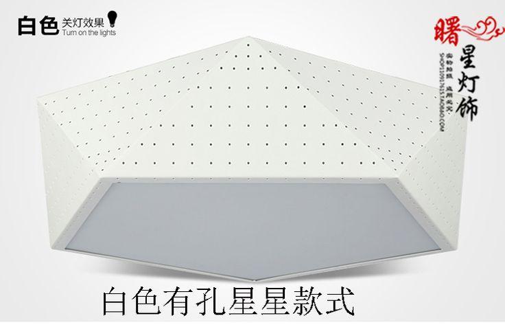 Простой современный номер офис встреча LED люстра из кованого железа Nordic IKEA спальни гостиной люстра столовая геометрия - Taobao