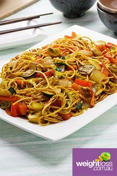 Vegetarian Chow Mein . #HealthyRecipes #DietRecipes #WeightLossRecipes weightloss.com.au
