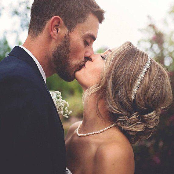 Hochzeit Stirnband, Kristall und Perlen Haarteil, Kopfschmuck für Hochzeit, Strass Hochzeit Kopfschmuck, Hochzeit Haar Rebe, Haarschmuck