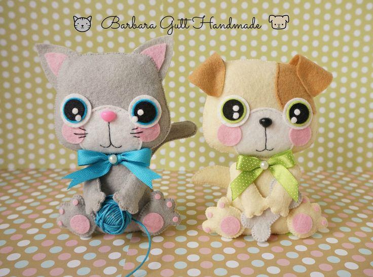 Barbara Handmade...: Pies + kot = przyjaciele /Dog + Cat = friends