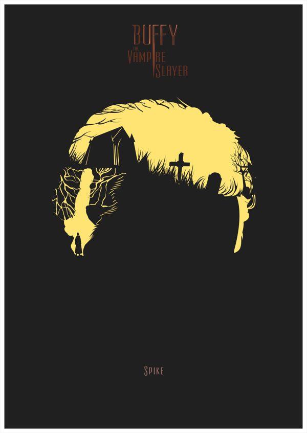 Buffy, The Vampire Slayer Parte 1 by Rafa Garcia de la Mata, via Behance