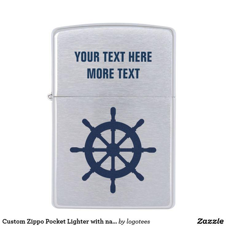 Custom Zippo Pocket Lighter with nautical logo