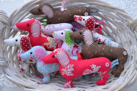 Dachshund sausage dog hanger lavender scented by farrellandholmes, £9.00