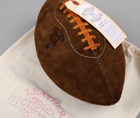 Hickoree's suede football for the distinguished athlete!