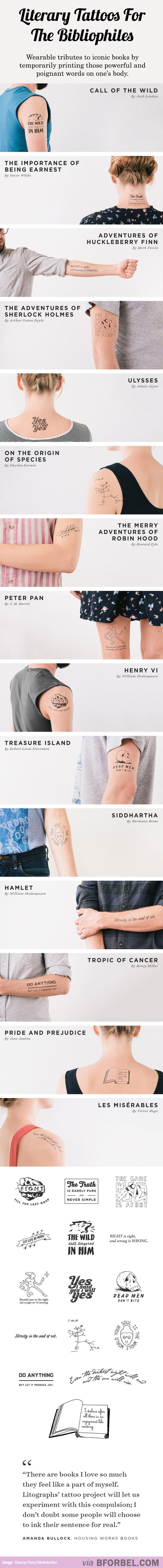 15 Literary Tattoos For The Bibliophiles...