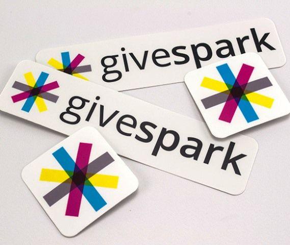 35 Contoh Desain Sticker Sebagai Media Promosi yang Efektif - 30. Givespark Stickers