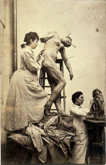 Camille Claudel, sculptrice française, soeur de l' écrivain Paul Claudel et muse de Rodin.