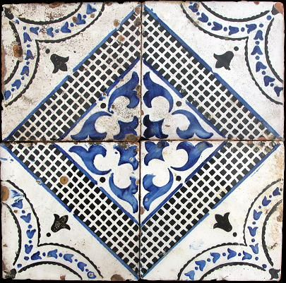 Cobalt blue Majolic tile.