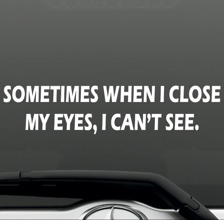 Sometimes when i close my eyes funny bumper sticker vinyl decal joke jdm car suv