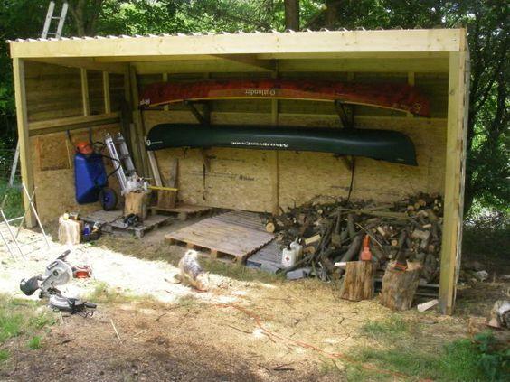 12 best kayak and canoe storage images on pinterest for Canoe storage shed