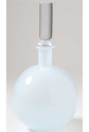 "Studio A 7.60012 Lab Opaline Blue Transitional Decanter STA-7-60012  Height: 13.5"" Width: 7"""