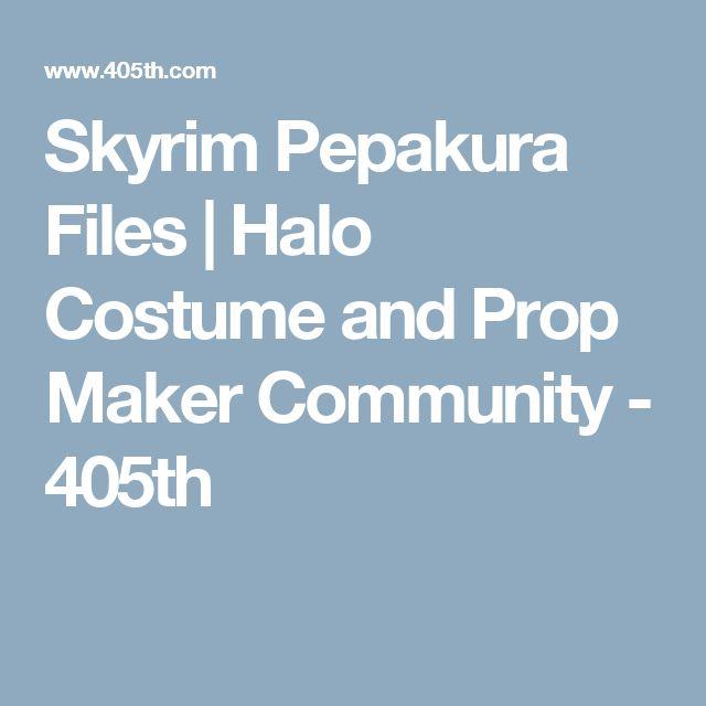 Skyrim Pepakura Files | Halo Costume and Prop Maker Community - 405th