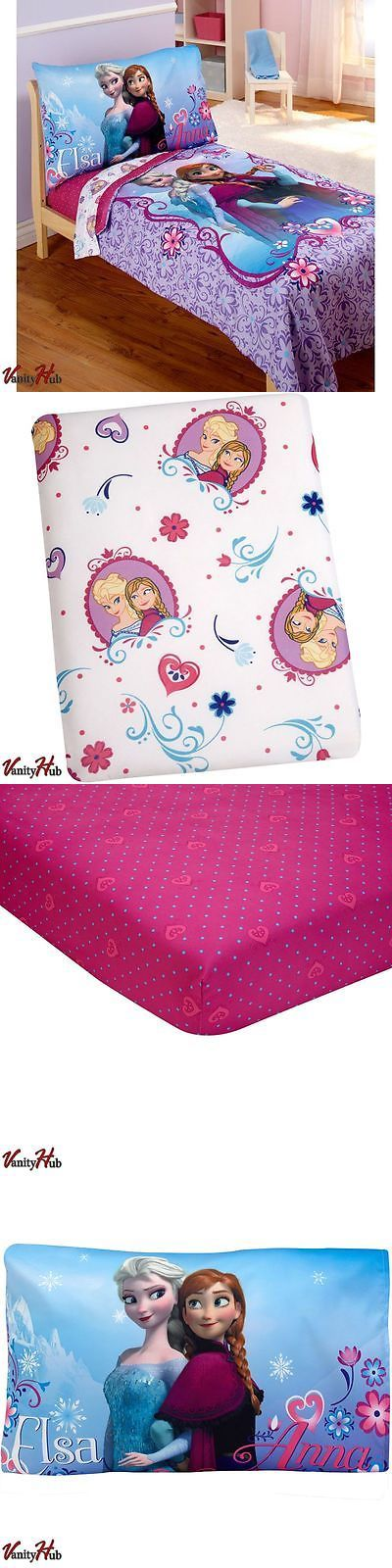 Kids at Home: Disney Frozen Elsa And Anna Bedding 4Pc Set Comforter Sheets Toddler Bed Baby Crib -> BUY IT NOW ONLY: $45.71 on eBay!