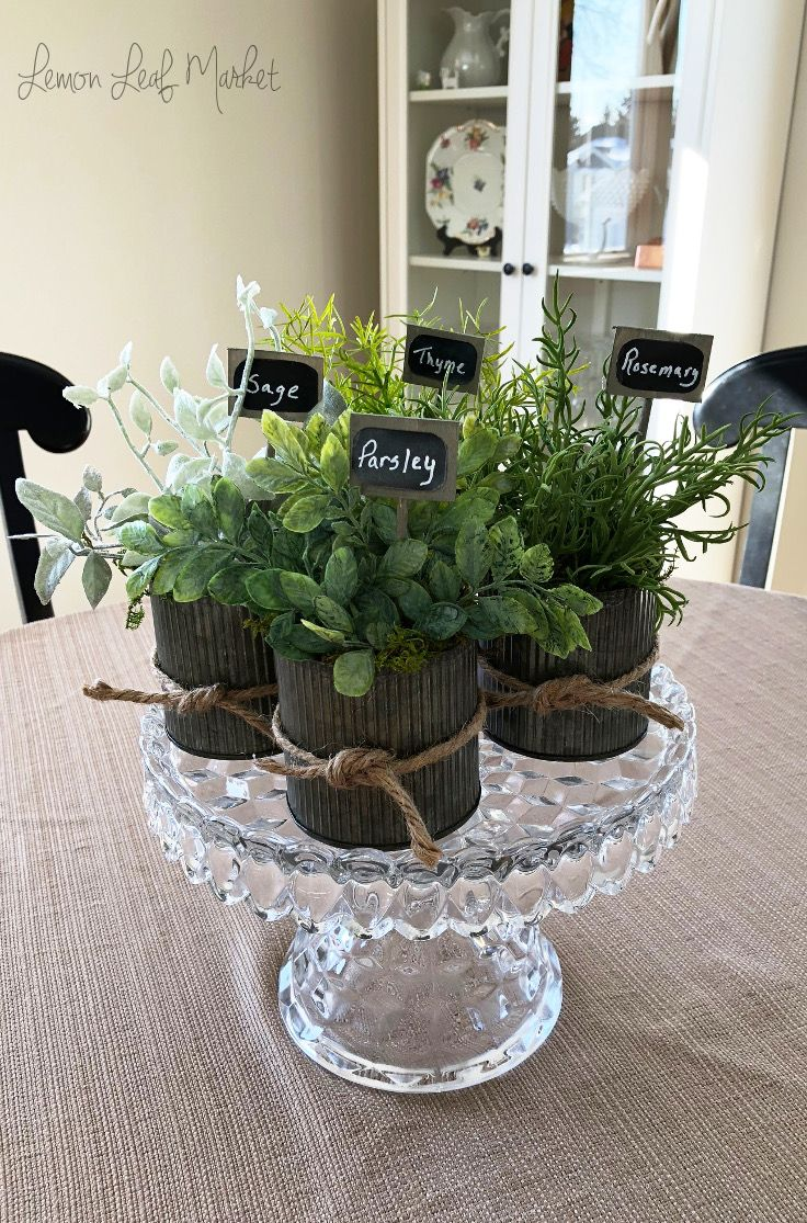 20+ Fake herbs for decorating ideas