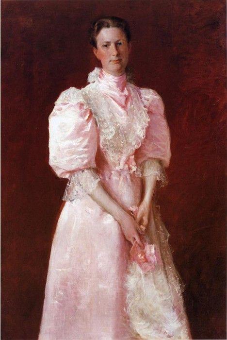 Этюд в розовом цвете или Портрет миссис Роберт П.Макдугал. Уильям Мерритт Чейз. Описание картины, скачать репродукцию.