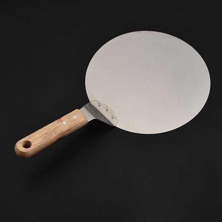 € 10,14 - Zilver Roestvrij Pizza Spatel 25 cm Peel Schop Turner Cake Lifter Lade Pan Home Keuken Bakken Gebak Gereedschap Accessoires