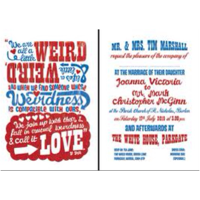 Cute Dr Seuss Wedding Invitation Idea