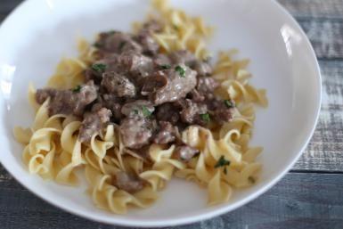 Round Beef Steak Stroganoff Recipe for Your Slow Cooker: Beef Stroganoff, Slow Cooker