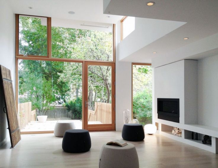 Windows and fireplace style