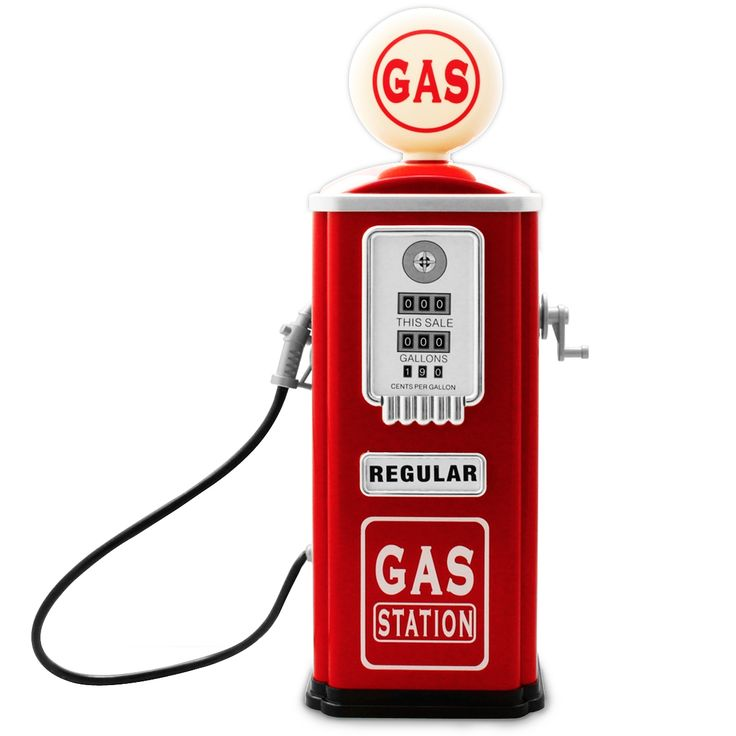 <span>Fill up with this nostalgic gas pump.<br /></span>