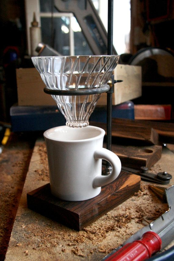 The Clerk V60 Pour Over Stand by TheCoffeeRegistry on Etsy #coffee #craft #gift