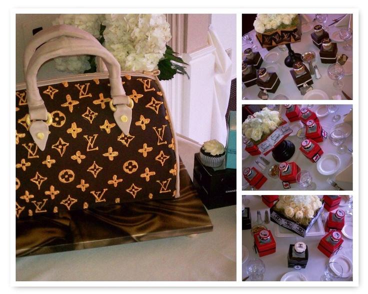 Louis Vuitton Purse Cake & designer cupcakes