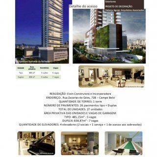 REALIZAÇÃO: Even Construtora e Incorporadora ENDEREÇO:. Rua Zacarias de Góes, 728 – Campo Belo QUANTIDADE DE TORRES: 1 torre NÚMERO DE PAVIMENTOS: 26 pavime. http://slidehot.com/resources/altto-campo-belo.63286/
