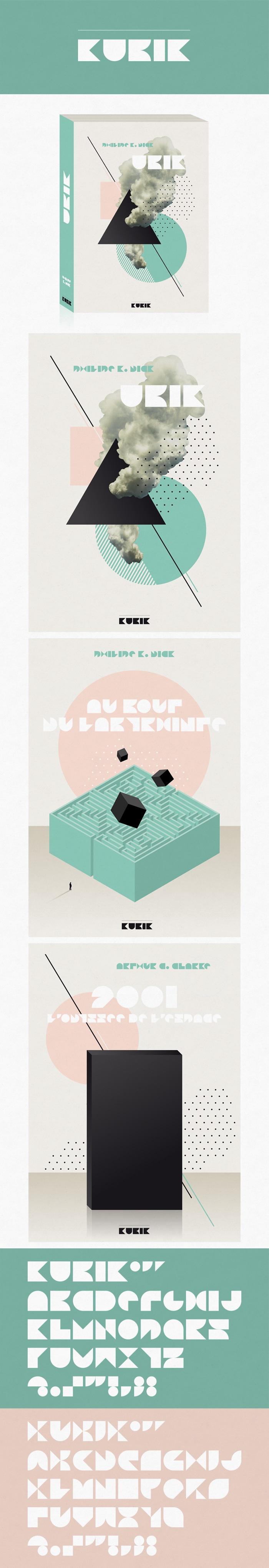 Client : KUBIK / Création d'un logo et d'illustrations pour la couverture de livres / Graphiste freelance, illustrateur, webdesigner