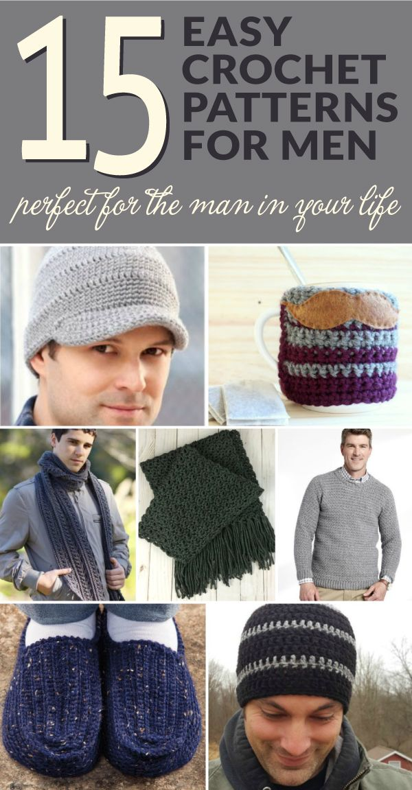 Looking for an easy crochet pattern for the man in your life? You've come to the right place. Make a special gift with these easy crochet patterns perfect for the man in your life! #crochetformen #crochetpattern #ilovecrochet #crochetaddict