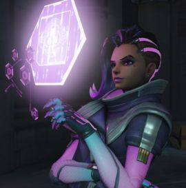 Sombra is one of the heroes in Overwatch. One of the world's most notorious hackers, Sombra uses information to manipulate those in power.