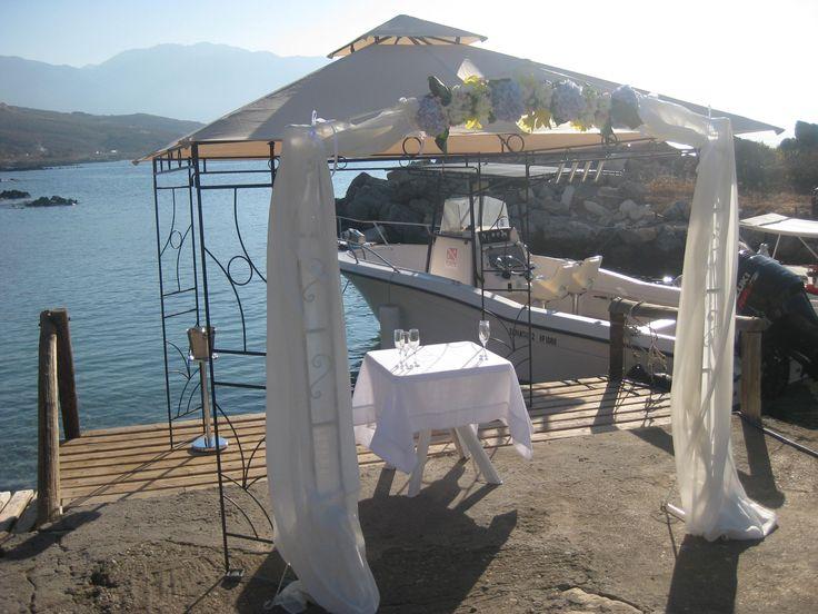 beach wedding and a romantic wedding arch