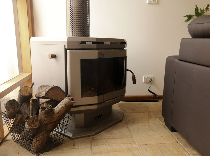 Charming free standing fireplace