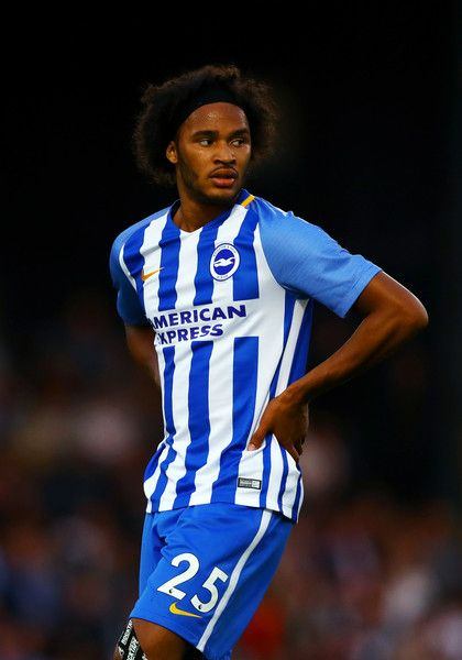 Izzy Brown of Brighton & Hove Albion looks on during the pre-season friendly match between Southend United and Brighton & Hove Albion at Roots Hall on July 25, 2017 in Southend, England.