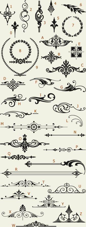 Fonts letterhead might  LHF Americana Ornaments  of Golden Era Studios