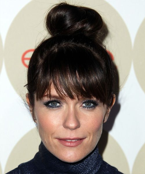 Katie Aselton Hairstyle - Casual Updo. Click on the image to try on this hairstyle!