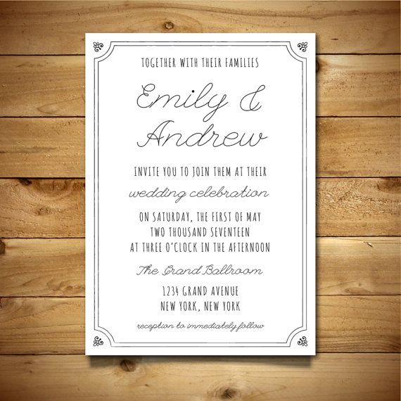 Best Wedding Invitation Templates Images On Pinterest Wedding - Wedding reception invitation templates word
