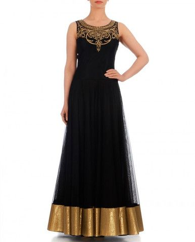 Black color anarkali Indo-Western gown  Website : http://www.bhartistailors.com/ Email : arvin@bhartistailors.com If you like this Like Our Page :https://www.facebook.com/bhartis.tailor