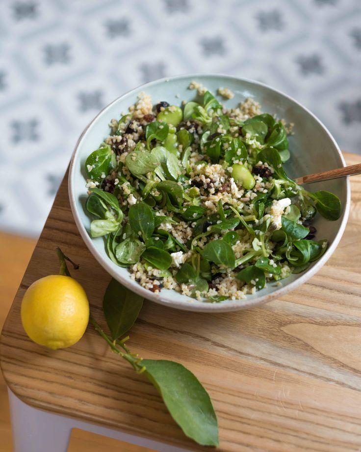 Salade aux fèves et boulgour