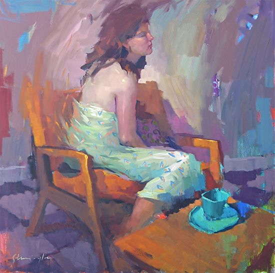 Teal Cup by Michael Steirnagle ~ 36 x 36