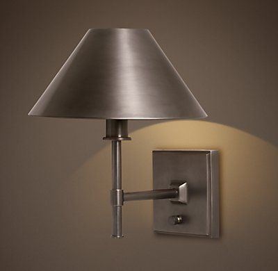 Petite Candlestick Sconce with Metal Shade